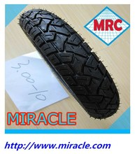 Cheap price CHINA factory direct manufacture MRC Brand 3.00-10 off road rubber motorcycle tire/motorcycle tyre for high way