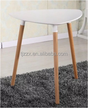 MDF triangle shape wood dining coffee table