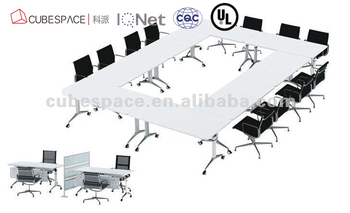 Steel And Wood Structure Folding Table Combination To Large - Desk conference table combination