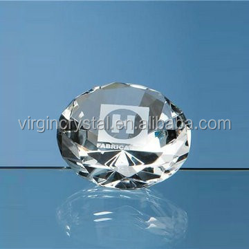 Wholesale Nice glass diamond crystal diamond paperweight wedding gifts souvenir