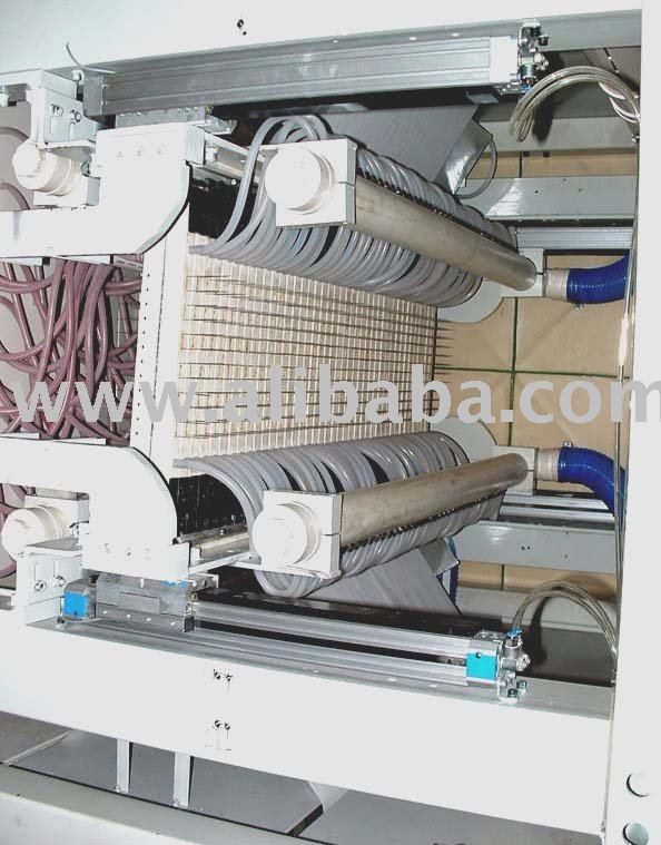 wide web micro perforation machine for high speed paper webs