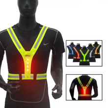 wholesale amamzon hot outdoor LED reflective <strong>safety</strong> vest