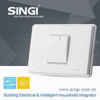 GNW58B Pakistan market 2016 New Design Two gang one way wall switch with light