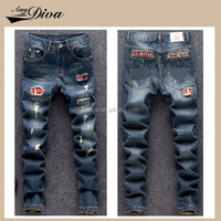 Top Selling Scratch Style manufacturers cotton biker jeans trousers fashionable men denim jeans pants