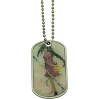 military dog tag pendant necklace
