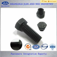 DIN931/933 Black Oxide Hex / Hex Head Tap Bolts and Nuts