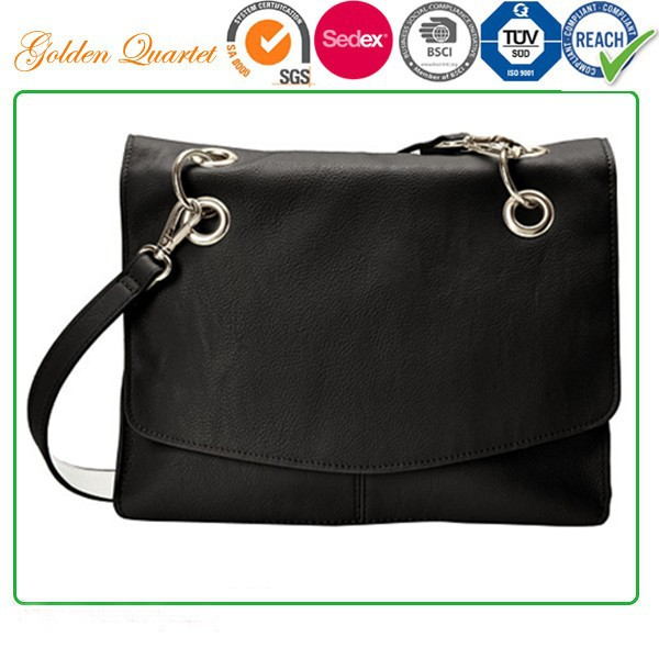 Luxury and Classic Single shoulder bag , Subtly textured polyurethane shoulder bag
