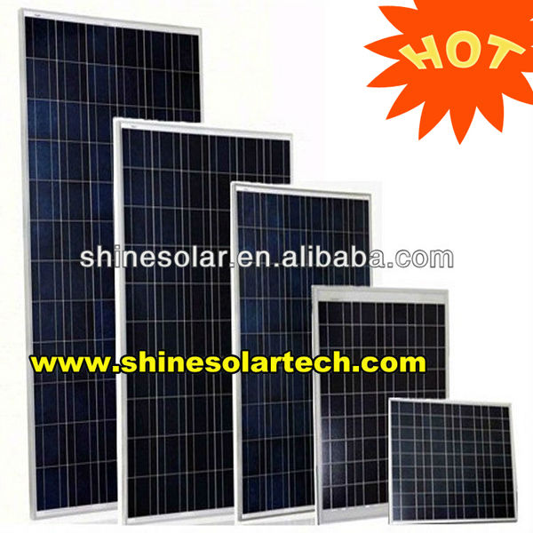 High efficiency 1kw roof rigid 250 watt solar panel for home solar system
