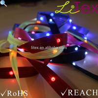 Battery powered flexible LED ribbon strip novelty light for costumes