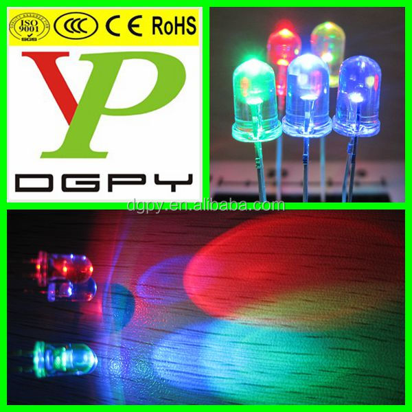High Quality 3.0-3.6v 5mm round white led Lighting Diodes ( CE & RoHS Compliant )