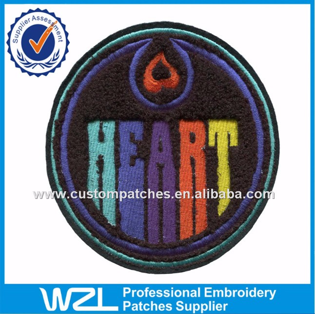 Letter a custom embroidery chenille patches no minimum