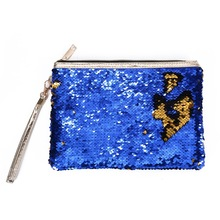 Sequin Makeup Bag Reversible Cosmetic Bag Women Handbag Bling Glitter Evening Party Bag Sparkling Shiny Clutch pouch