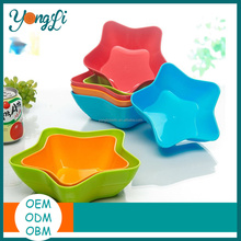 Cut Star Shape Color Plastic Plates For Fruit