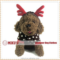Christmas Best quality Hot sale Christmas Reindeer Costume, Pet Costume Cosplay for dog clothes