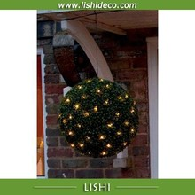 Hanging Artificial Boxwood Ball Topiary Ball LED Grass Ball