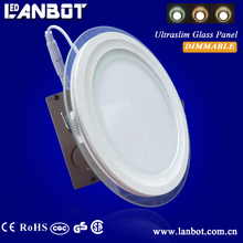 UL quality glass cover led panel light 6w 9w 12w 18w ceiling lamp lighting