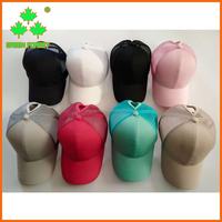 in stock hats with ponytail hole