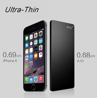 BOAS 2 in 1 0.68mm Ultra-thin Portable Power bank 4600mAh External Travel Battery Power Charger Case for iPhone 5/6/6S Samsung