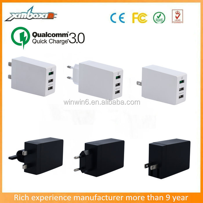 5V 6A(30W) EU UK US socket Qualcomm Quick Charge 3.0 USB Travel Charger QC3.0 Super Charger for Samsung/Huawei Smart Phone