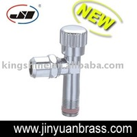 angle valve brass body and aluminum handle slow open