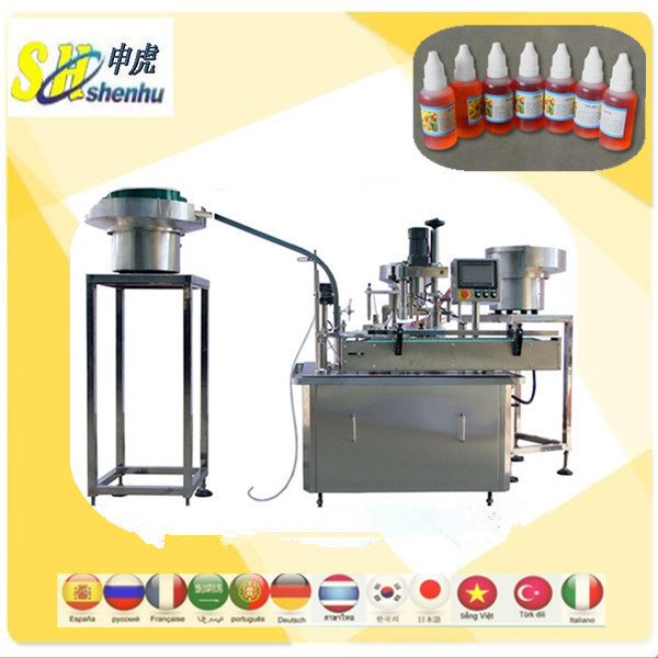 hot sell 10ml bottle filling inserting capping machine,eye drops,e-juice filling capping machine