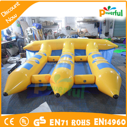 Crazy 6men inflatable water banana boat fly fish