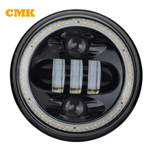 5.75 Inch Round Projector Headlight LED Motorcycle Spare Parts Headlight for Harley Davidson Offroad
