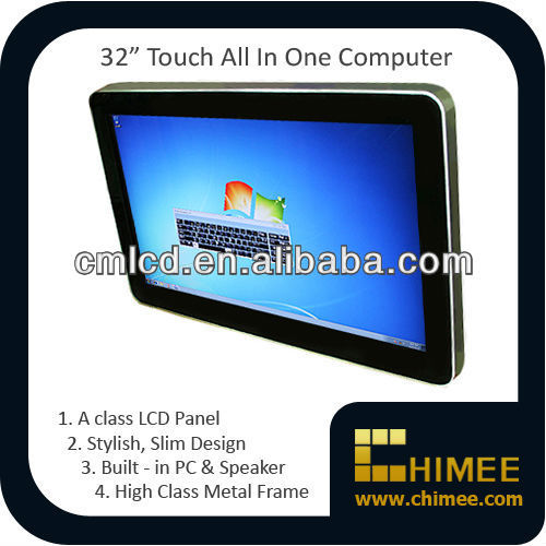 32 inch LCD i3 i5 i7 Computer Wth Touch Screen (HQ32CW-C2-T,i3 i5 i7 CPU--3.1Ghz--Dual Core)