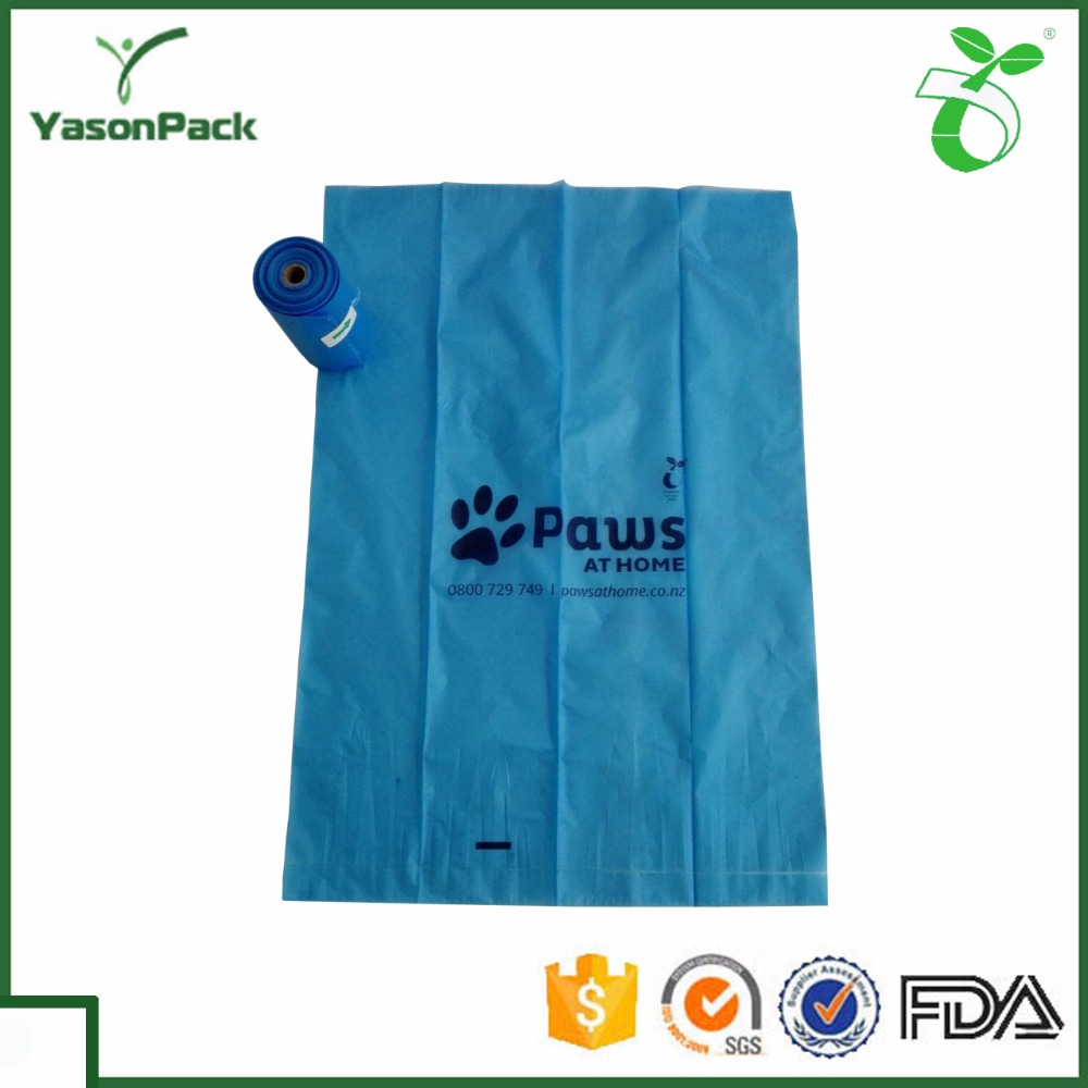 100% biodegradable print wholesale plastic dog poop waste bag