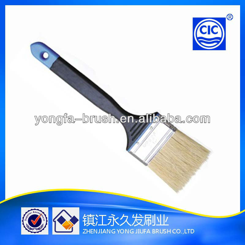Good quality tapered polyester paint brush plastic and rubber handle sigma brushes