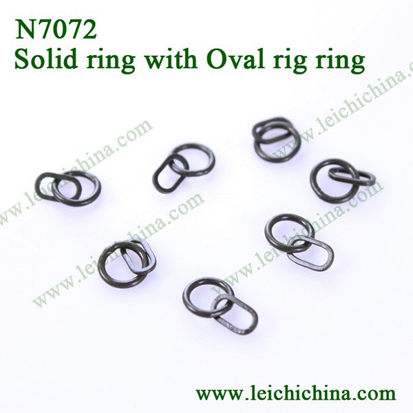 High quality carp fishing terminal tackle solid ring with oval rig ring hinge rings