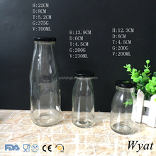 Cheap Round 200ml 500ml 700ml Glass Milk Yogurt Bottles for Drinking