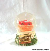 Polyresin Cartoon Car Water Globe For Garden Decoration Craft