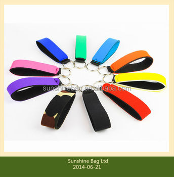 2014 hot selling Cheap promotional Neoprene key chain with customized logo