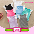Adorable Fashion Summer Girls shirt Lace wings Girls Baby Flutter Tank Top