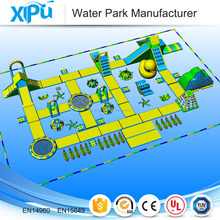 Giant inflatable floating water park customized manufacture, inflatable water park design for free