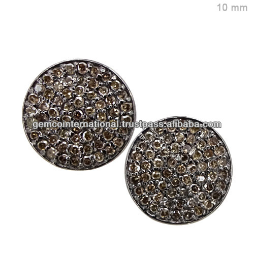 Wholesale Gemstone Size 8 mm Bead Earrings Black Spinel 925 Silver Ball Earrings Jewelry Manufacturer Exporter
