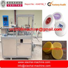 HAS VIDEO TW-680 Automatic Round Small Mini Dressy Hotel Bath Hand Wash Disposable Bath Bar Soap Wrapping Machine With Label