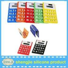 colorful waterproof 8digit solar silicone calculator as promotion gift