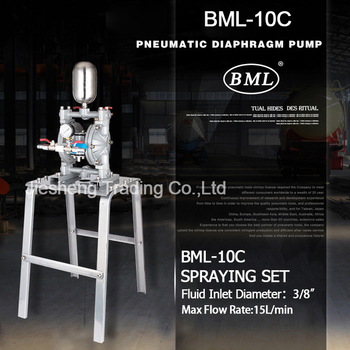 Double Way Pneumatic Diaphragm Pump BML-10C Spraying set