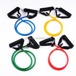 Heavy duty Latex Resistance Band tube Exercise Cords with Door Attachment