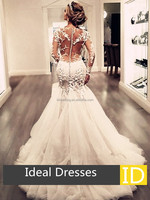 Ideal Dress 2017 Elegant Lace zip-up Back Trumpet Wedding Dress(ID50056)