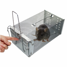 Easy Use Factory Wholesale Stainless Aluminum Chipmunk Control Outdoor Rodent Small Animal Live Cage Rat Mice Metal Mouse Trap