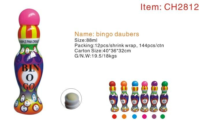 Large Capacity Bingo marker CH-2812--with beautiful shape latest technology adopt,no leaking,no sparking,24colors&CE confirm