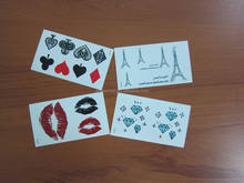 Temporary Body Tattoo Stickers With Cartoon Characters