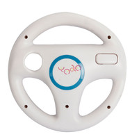 White Game Steering Wheel For Nintendo WII Mario Kart Racing Remote Controller