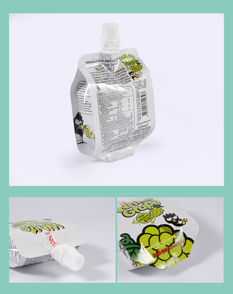 Safety Spout Juice Drinking Packaging disposable plastic bag For Customized