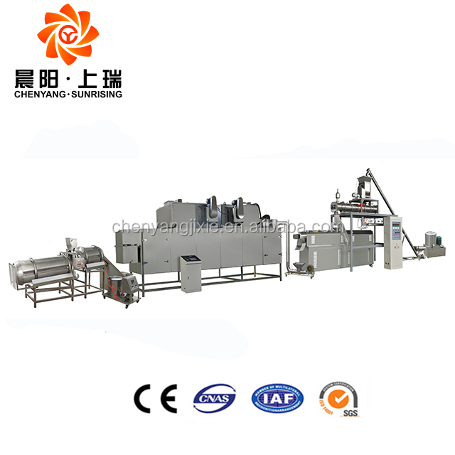 Automatic floating fish feed processing line pet pellet extruder