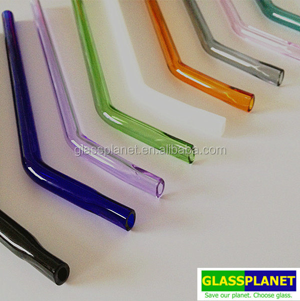 Reusable Bent Glass Straws