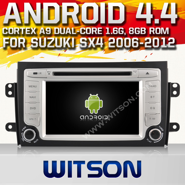 WITSON ANDROID 4.4 AUTO RADIO CAR DVD GPS FOR SUZUKI SX4 2006-2012 WITH 1.6GHZ FREQUENCY DVR SUPPORT WIFI STEERING WHEEL SUPPORT